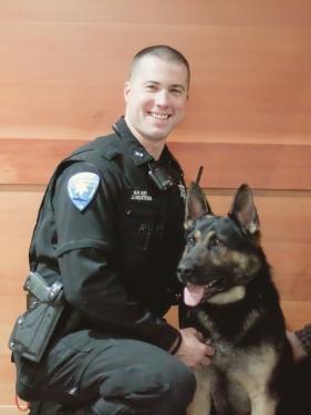 Deputy Joe Hedstrom and his K9 Titan